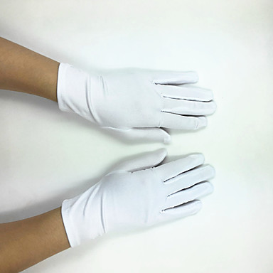 cheap Party Gloves-Elastic Satin / Polyester Wrist Length Glove Classical / Bridal Gloves / Party / Evening Gloves With Solid