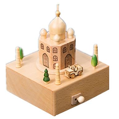levne 3D puzzle-Music Box Modele Dřevěný model Kolotoč Veselé kolo Taj Mahal Roztomilý Dřevo Dětské Dospělé Unisex Chlapecké Dívčí Hračky Dárek