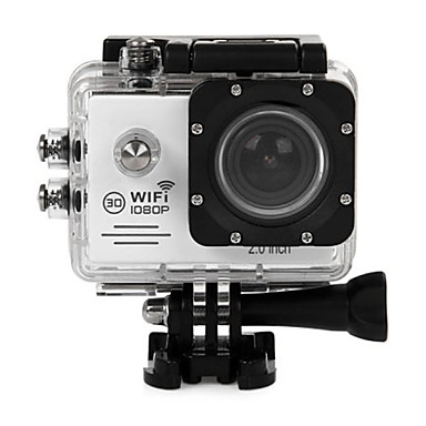 cheap Sports Action Cameras & Accessories  For Gopro-SJ7000 Gopro Gopro & Accessories Outdoor Recreation vlogging Waterproof / Multi-function / WiFi 64 GB 60fps 12 mp 1280x960 Pixel 2 inch CMOS H.264 Burst Mode 45 m -1/3 / USB / Anti-Shock / LED