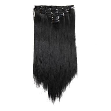 levne Syntetické příčesky-Připínací syntetický Prodloužení vlasů 180 Prodlužování vlasů