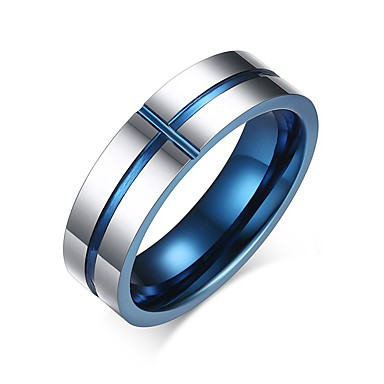 levne Pánské šperky-Pánské Prsten Groove kroužky Různé barvy Nerez Volframová ocel Kulatý Circle Shape Geometric Shape Přizpůsobeno Základní minimalistický styl Párty Výročí Šperky Dvoubarevné