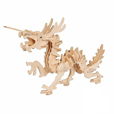 levne 3D puzzle-3D puzzle Drak Zábava Dřevo Klasické Dětské Unisex Hračky Dárek