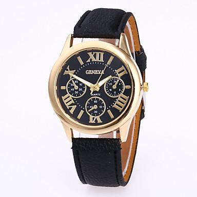levne Dámské-Geneva Dámské Náramkové hodinky Křemenný Kůže Černá / Bílá / Červená Hodinky na běžné nošení Analogové dámy Přívěšky Na běžné nošení Módní - Zelená Růžová Světle modrá