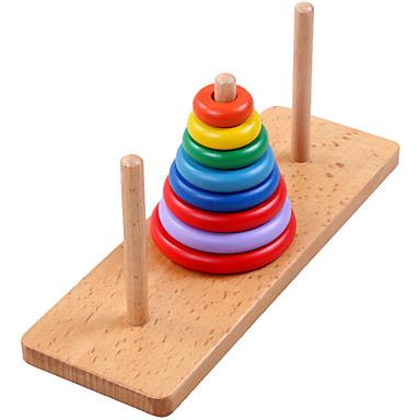voordelige Rekenspeelgoed-Toren van Hanoi Bouwblokken Educatief speelgoed Klassiek Cool Jongens Geschenk