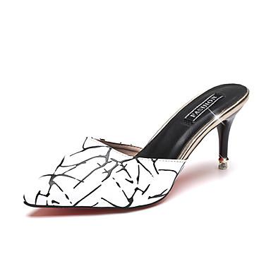 Mujer Zapatos PU Verano Confort Sandalias Tacón Cuadrado Negro / Rojo 2OhMtW9YCl