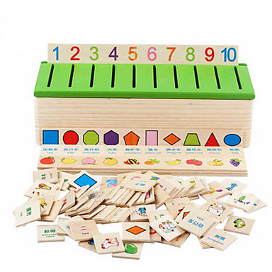 cheap Math Toys-Educational Flash Card Educational Toy Math Toy Shape Sorter Toy 1 pcs compatible Legoing Classic Boys' Girls' Toy Gift / Kid's / Kids