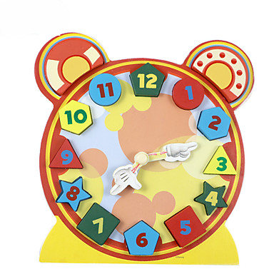 voordelige 3D-puzzels-Bouwblokken Steekpuzzels Houten modellen Educatief speelgoed Speeltjes Klok Hout Kinderen 1 Stuks