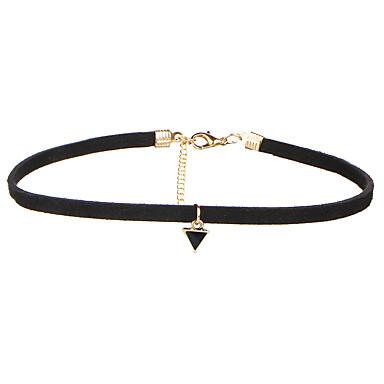 povoljno Modne ogrlice-Žene Choker oglice Stil višenja Osnovni Velvet Legura Crn Ogrlice Jewelry Za Vjenčanje godišnjica Rođendan Hvala vam Poslovanje Dar