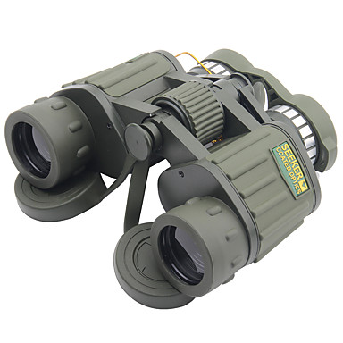 cheap Binoculars, Monoculars & Telescopes-SEEKER 8 X 42 mm Binoculars Porro Lenses Night Vision in Low Light High Definition Generic Carrying Case Multi-coated BAK4 Hunting Camping / Hiking / Caving Outdoor Plastic Rubber Aluminium Alloy