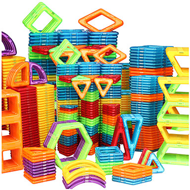 cheap Building Toys-Magnetic Blocks Magnetic Tiles Building Blocks 20-128 pcs Car Robot Ferris Wheel compatible Legoing Gift Magnetic 3D Boys' Girls' Toy Gift