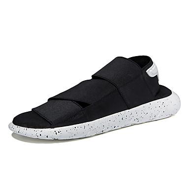 Hombre Zapatos Tejido Verano Confort Sandalias Negro / Morado / Negro / blanco 9EWhf2