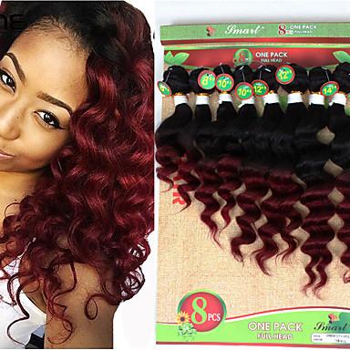 povoljno Ekstenzije za kosu-Brazilska kosa Valovita kosa Duboko Val Virgin kosa Ombre Ombre Isprepliće ljudske kose Proširenja ljudske kose