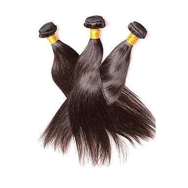 cheap Unprocessed Hair-Human Hair Remy Weaves Straight Peruvian Hair 300 g 1 Year
