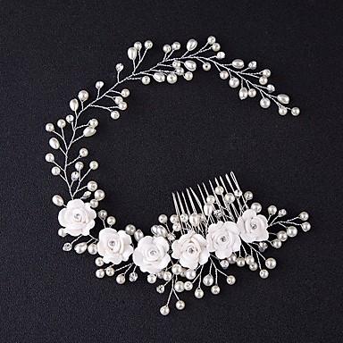 povoljno Party pokrivala za glavu-Til tijare / Kose za kosu / Cvijeće s Perje 1 Zabave Glava