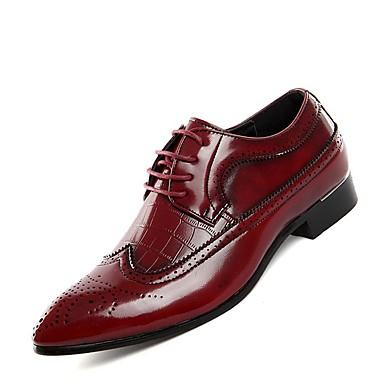preiswerte Herrenschuhe-Herrn Bullock Schuhe Leder Frühling / Sommer Outdoor Schwarz / Rot / Blau / Komfort Schuhe