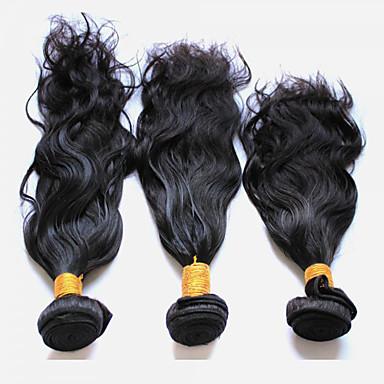 povoljno Ekstenzije za kosu-3 paketa Peruanska kosa Prirodne kovrče Virgin kosa Ljudske kose plete 8-28 inch Isprepliće ljudske kose Proširenja ljudske kose