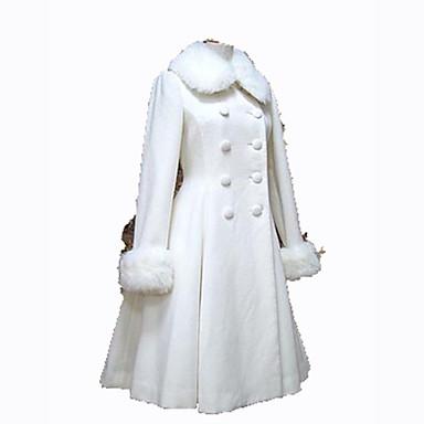 Blanc Manteau Manches Gothique Longues Princesse Femme Cosplay Noir IawHBSqx