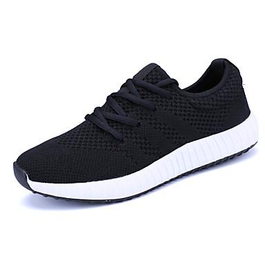 Hombre Zapatos PU Verano Confort Zapatillas de deporte Negro / Gris DQbMuoePIy