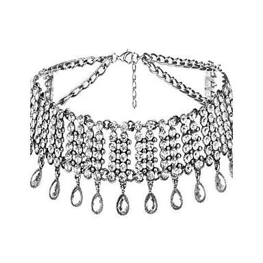 povoljno Modne ogrlice-Žene Choker oglice Rese Ispustiti dame Luksuz Kićanka Moda Legura Zlato Pink Ogrlice Jewelry Za Vjenčanje Party Maškare Zaručnička zabava Prom Obećanje