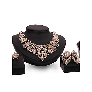 levne Dámské šperky-Dámské Synthetic Ruby Sady šperků Prohlášení dámy Přizpůsobeno Luxus Vintage Módní Pozlaceno 18k Štras Pozlacené Náušnice Šperky Zlatá Pro Párty Zvláštní příležitosti Bytost Gratulace Děkuji Zásnuby