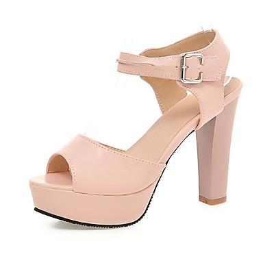 Zapatos blancos de punta abierta formales para mujer hTKZz78