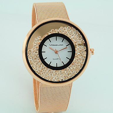 levne Dámské-Dámské Křišťálové hodinky zlaté hodinky Křemenný Stříbro / Zlatá / Růžové zlato imitace Diamond Analogové dámy Na běžné nošení Módní - Stříbrná Zlatá Růžové zlato Jeden rok Životnost baterie