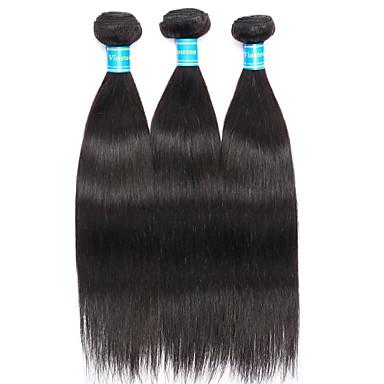 povoljno Ekstenzije od ljudske kose-3 paketa Brazilska kosa Ravan kroj Ljudska kosa Ljudske kose plete Prirodna boja Isprepliće ljudske kose novi Rasprodaja Proširenja ljudske kose / 8A