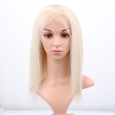 povoljno Perike i ekstenzije-Remy kosa Perika s prednjom čipkom bez ljepila Lace Front Perika stil Brazilska kosa Ravan kroj Perika 130% Gustoća kose s dječjom kosom Prirodna linija za kosu Afro-američka perika 100% rađeno rukom