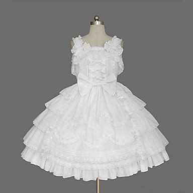 dbf8d28e1ed69 [$49.99] Princess Sweet Lolita Dress JSK / Jumper Skirt Women's Girls'  Cotton Japanese Cosplay Costumes Plus Size Customized White Ball Gown Solid  ...
