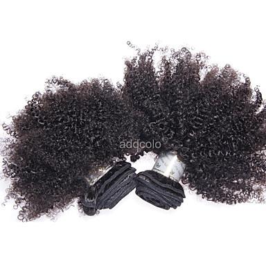 povoljno Ekstenzije od ljudske kose-Brazilska kosa afro Kinky Curly Ljudska kosa Ljudske kose plete Isprepliće ljudske kose Proširenja ljudske kose / 8A