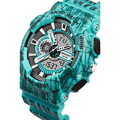 povoljno Ženski satovi-Muškarci Sportski sat / digitalni sat Japanski Vodootpornost Plastic Grupa Crna / Plava / Crvena / Dvije godine / Sony SR626SW + CR2025