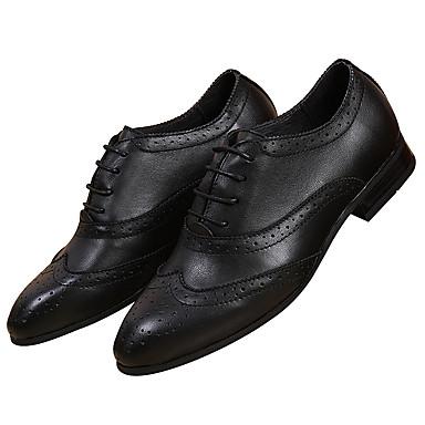 4aa856cfbad Pánské Obuv Nappa Leather Kůže Zima Jaro Pohodlné Společenské boty  Oxfordské Šněrování pro Svatební Party Bílá Černá Hnědá 5977572 2019 –   49.99