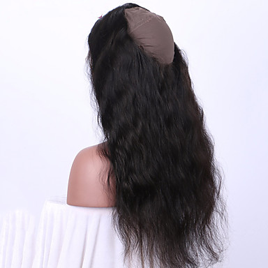 cheap Closure & Frontal-Brazilian Hair 360 Frontal Wavy / Body Wave / Classic Free Part / Middle Part Swiss Lace Remy Human Hair Daily