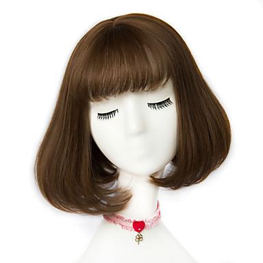 povoljno Perike i ekstenzije-Sintetičke perike Stil Capless Perika Ash Brown Bež Siva Sintentička kosa Žene Perika Kratko