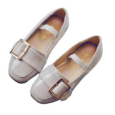62fd58ad6 Chica Calzado de Barco Zapatos para niña florista Otoño Invierno PU Casual  Tacón Plano Blanco Negro Plano 5963813 2019 –  29.99