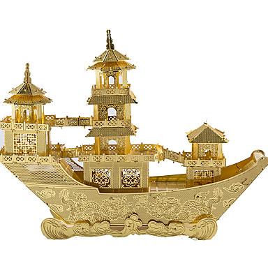 levne 3D puzzle-3D puzzle Kovové puzzle Modele Loď Čínská starověká loď Zábava Kov Klasické Dětské Unisex Hračky Dárek