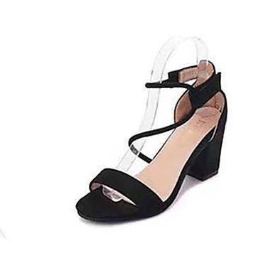 Mujer Zapatos PU Verano Tira en el Tobillo Sandalias Tacón Carrete Beige / Rosa z8koDW4A5