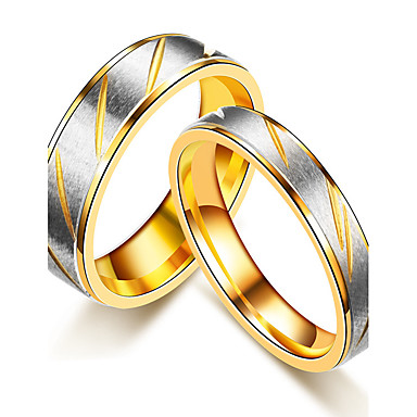 Pro Pary Snubni Prsteny Prsten Band Ring Zlata Rose Gold Titanova