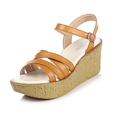 Talla 36 EU Zapatos marrones de verano Tacón de cuña oficinas para mujer Zapatos marrones de verano Tacón de cuña oficinas para mujer  Color Multicolor (Disco Python) GYN8ItGZ