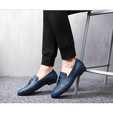 cheap Men's Slip-ons & Loafers-Men's Dress Shoes Fall / Winter Business / Casual Daily Party & Evening Outdoor Loafers & Slip-Ons Walking Shoes Synthetics Non-slipping Wear Proof Black / Blue / Grey / Formal Shoes / Tassel / EU40