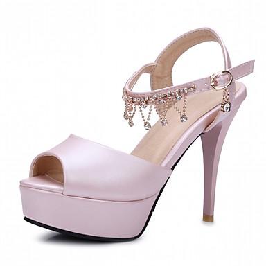 Zapatos beige de otoño de punta abierta para mujer k4yMXn3