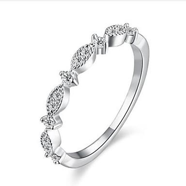 billige Motering-Dame Ring Syntetisk Diamant Hvit Rose Rosa Rose gull Gullbelagt Rund damer Mote Bling bling Bursdag Gratulerer Smykker