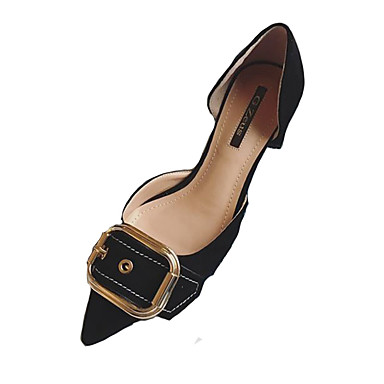 9d4a116af96 Women s Shoes Leatherette   PU Summer Sandals Low Heel Open Toe Buckle  Black   Orange   Khaki 5927664 2019 –  19.99