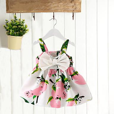povoljno Majice za bebe-Dijete Djevojčice Cvijetan Vikend Limun Print Kratkih rukava Pamuk Bluza Blushing Pink / Dijete koje je tek prohodalo