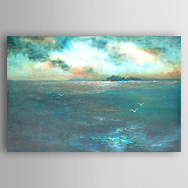 cheap Wall Art-Oil Painting Hand Painted - Landscape Abstract Stretched Canvas