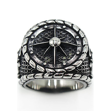 voordelige Herensieraden-Heren Dames Ring duimring Zilver Roestvast staal Titanium Staal Cirkelvorm Dames Gothic Speciale gelegenheden Feest / Uitgaan Sieraden Logo Gegraveerd