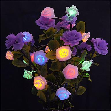 preiswerte LED-Lichter-5m 20 led batteriebetriebene string blume rose fairy light weihnachtsdekor (warmweiß / weiß / rosa / gelb / multi farbe / grün / rot / lila / blau)