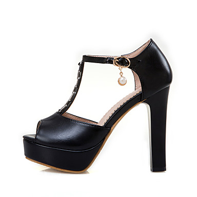5996fed85c5 [$34.99] Women's Shoes Real Leather Summer Comfort Ankle Strap Light Soles  Sandals Chunky Heel Peep Toe Sparkling Glitter For Dress Party &