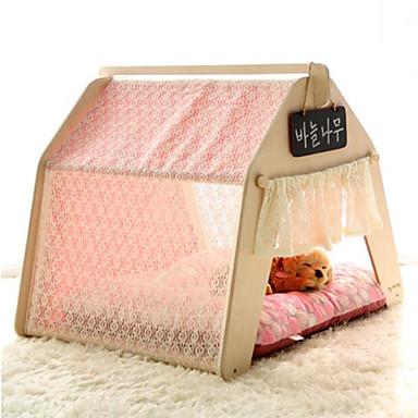 preiswerte Bekleidung & Accessoires für Hunde-Katze Hund Matratzen Unterlage Betten Bettdecken Zelt-Höhlenbett Haustier Haus Matten & Polster Holz Stoff Weich Zelt Solide