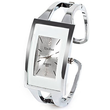 cheap Square & RectangularWatches-Women's Ladies Fashion Watch Unique Creative Watch Square Watch Quartz Silver Rhinestone Imitation Diamond Analog Casual Bangle - White One Year Battery Life / SSUO LR626